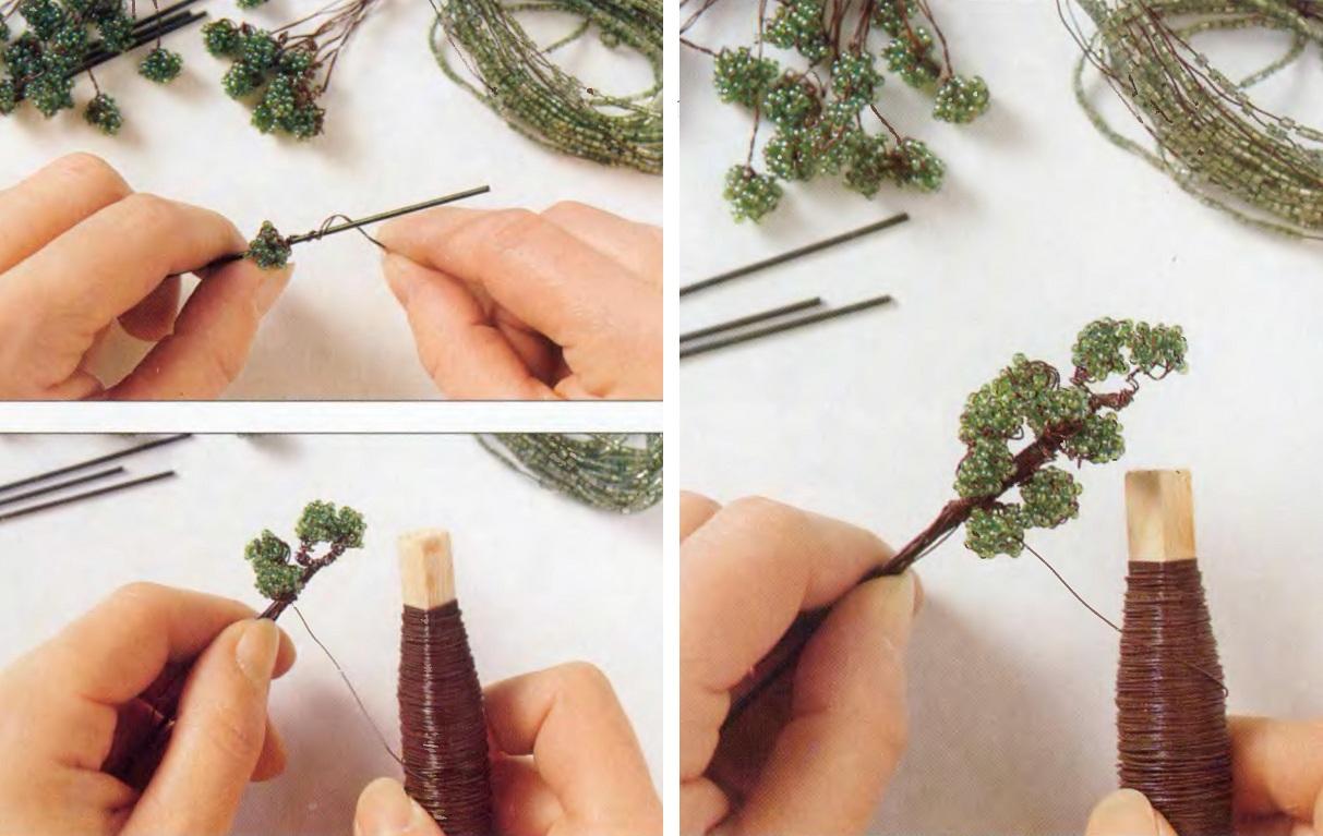 Дерево из бисера своими руками схемы и фото для начинающих